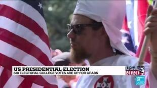 2020-11-03 23:05 US Election Day: Trump's failure to repudiate white supremacist groups