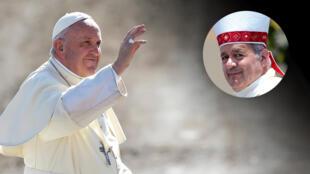 """""""El santo padre siempre ha sido muy cariñoso y apoyador"""" con él, dijo Juan Barros (derecha) a los periodistas."""