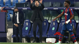 Simeone's Atletico were left frustrated at Levante
