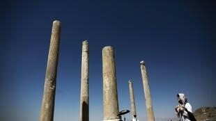 The ancient Persian city of Persepolis, near Shiraz in southern Iran, is one of the country's main tourist attractions