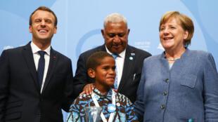 La canciller alemana Ángela Merkel habla durante la conferencia global de cambio climático de las Naciones Unidas COP23 en Bonn, Alemania