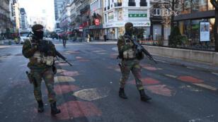 عناصر من القوات الخاصة في بروكسل 2015