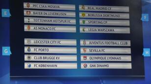 Le tirage au sort des groupes de la Ligue des champions a eu lieu jeudi 25 août, au siège de l'UEFA.