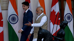 Canadian Prime Minister Justin Trudeau (left) and Indian Prime Minister Narendra Modi (right) spoke on the phone on Wednesday