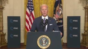 El presidente de Estados Unidos, Joe Biden, durante la Conferencia de Múnich el 19 de febrero de 2021.