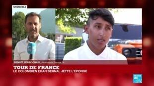 2020-09-16 09:02 Le Colombien Egan Bernal quitte le Tour de France pour s'épargner après une blessure
