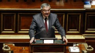 Michel Mercier, le 16 mars 2016, à l'Assemblée nationale.