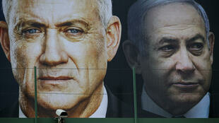 Benny Gantz (left) backed an emergency unity government -- a call previously made by his rival, Prime Minister Benjamin Netanyahu (right)