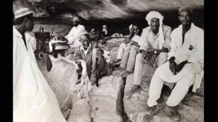 Combattants du Frolinat, le front de libération du Tchad, dans les montagnes du Tibesti dans le nord-ouest du Tchad.