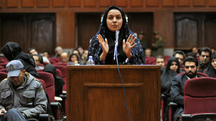 Golara Sajadian, AFP I Reyhaneh Jabbari during her trial in 2008 (archives).