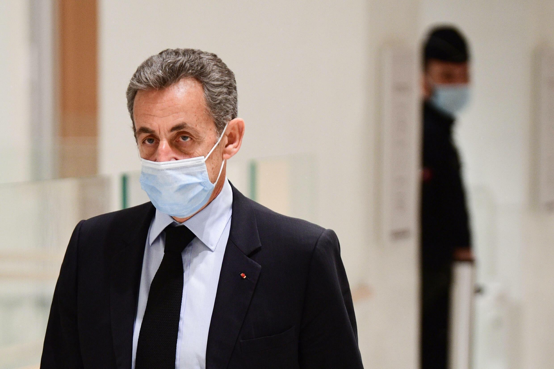 L'ancien président Nicolas Sarkozy arrive au tribunal de Paris, le 8 décembre 2020