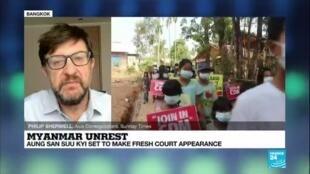 2021-04-12 08:06 Myanmar unrest: Aung San Suu Kyi set to make fresh court appearance