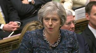 La Première ministre britannique, Theresa May, à la Chambre des communes, le 18 janvier 2017.