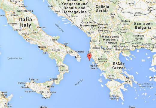 """Le """"Norman Atlantic"""" a envoyé un signal de détresse alors qu'il se trouvait à 33 miles nautiques de la petite île grecque d'Othoni."""