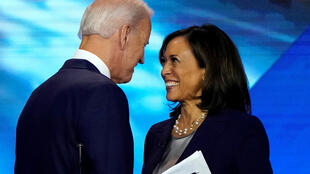 Joe Biden et Kamala Harris, le 12 septembre 2019 à Houston, au Texas.
