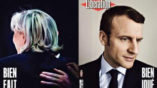 """Le quotidien Libération salue la victoire d'Emmanuel Macron d'un """"Bien joué""""."""