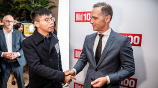 La rencontre entre le ministre allemand des Affaires étrangères Heiko Maas et le militant pro-démocratie hongkongais Joshua Wong, à Berlin, le 9 septembre 2019.