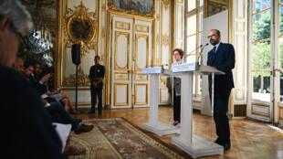 Édouard Philippe et Muriel Pénicaud, le 18 juin 2019, à Matignon.