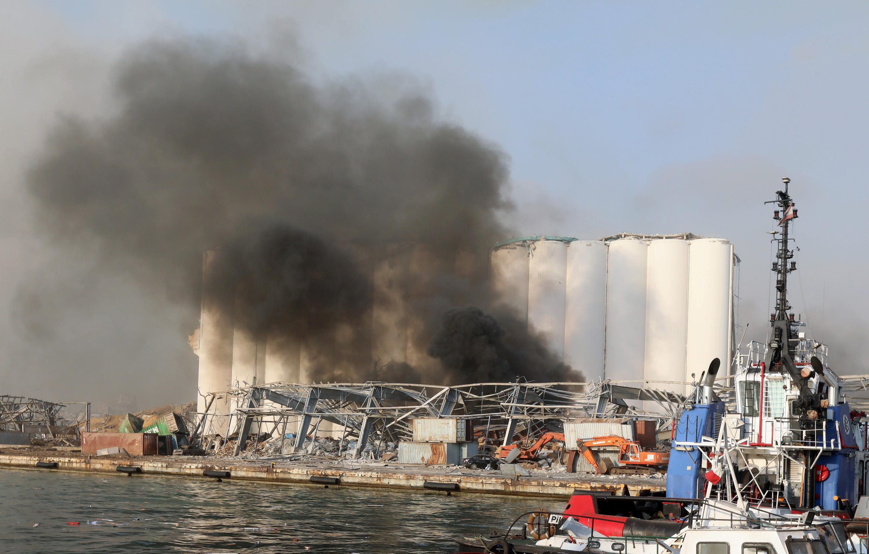 Un entrepôt sur le port de Beyrouth contenait environ 2 700 tonnes de nitrate d'ammonium.