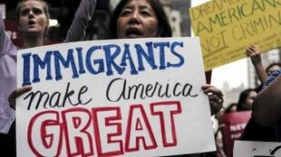 Manifestación contra la cancelacióndel programa DACA el 5 de octubre en Nueva York.