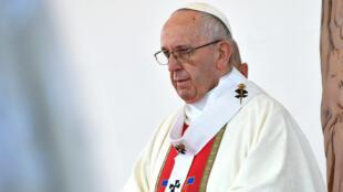 Le pape François célèbre une messe en plein air, dans le sud du Chili, en janvier 2018 (archives).