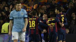 Le FC Barcelone a nettement dominé Manchester City, sauvé de la déroute par un grand Joe Hart, mercredi 18 mars 2015.