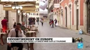 2020-05-18 14:09 Tour d'horizon du déconfinement en Europe, où souffle un vent de légèreté