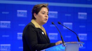 Patricia Espinosa Cantellano, Secretaria Ejecutiva de la COP25, aborda el Día de la Financiación del Clima en París, Francia, el 11 de diciembre de 2017.