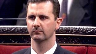 President Bashar al-Assad prepares on 17 July, 2000 to address parliament in Damascus for the first time since taking office