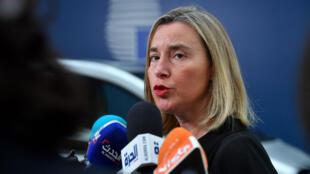 La cheffe de la diplomatie européenne, Federica Mogherini, à Bruxelles, le 15juillet2019.