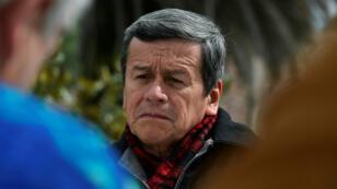 Pablo Beltran, le chef des négociateurs de la guérilla ELN, à Salgolqui, en Équateur, le 9 janvier 2018.