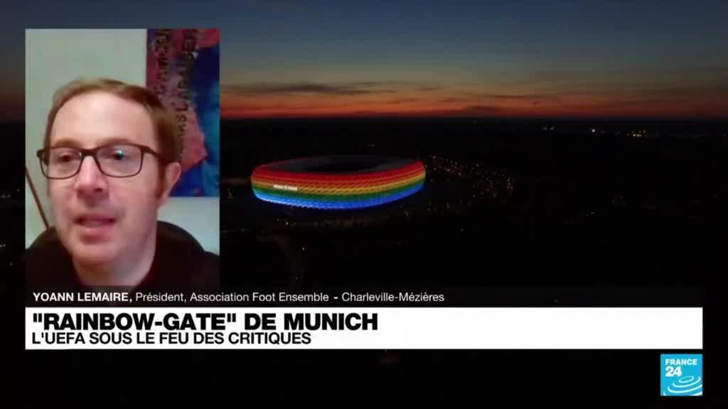 """2021-06-22 21:02 """"Rainbow gate"""" de Munich : l'UEFA sous le feu des critiques"""