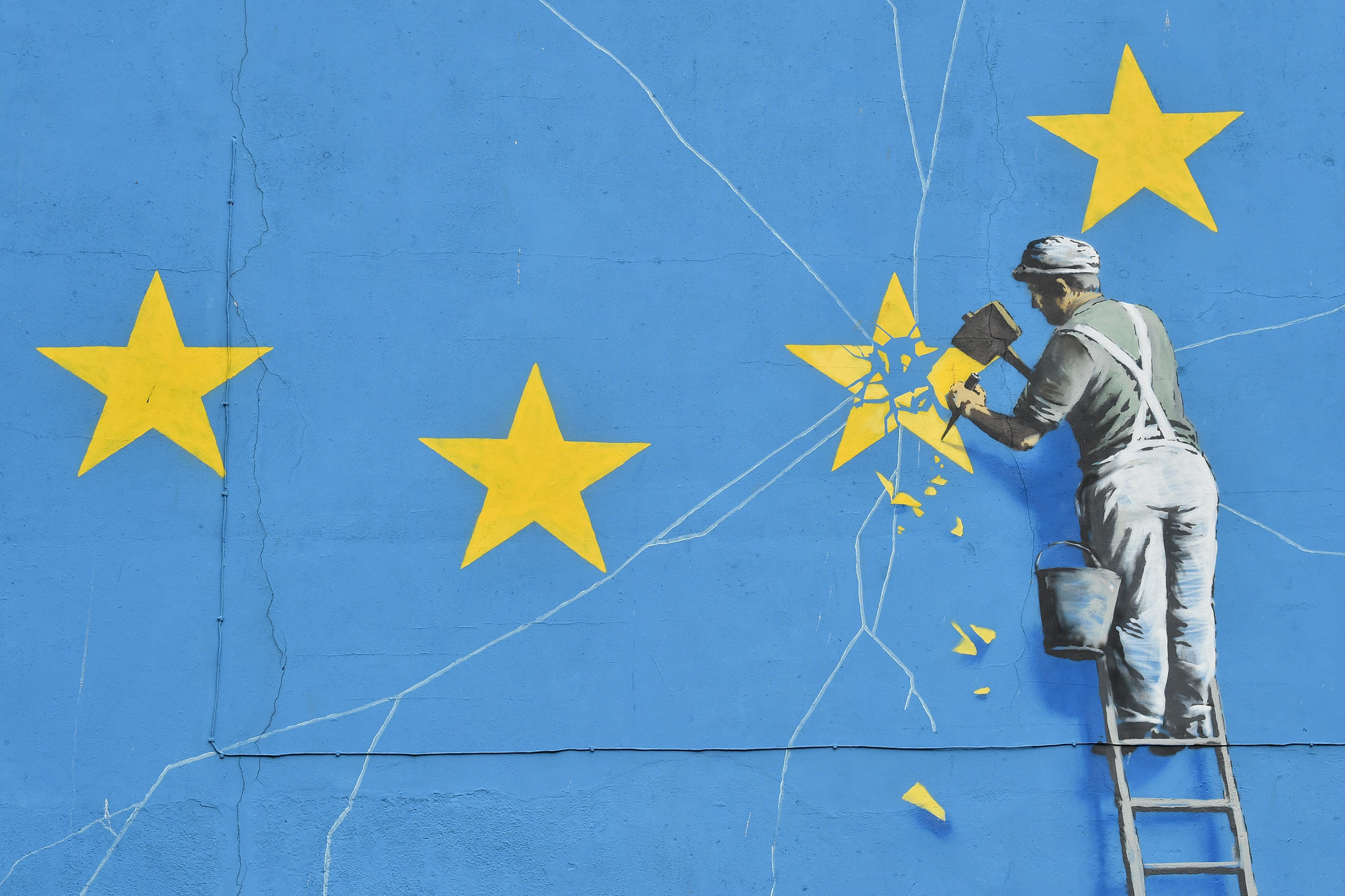 A mural by British artist Banksy, Dover, January 7, 2019