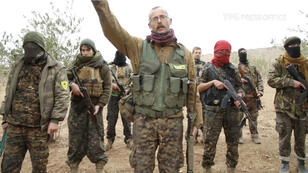 Volontaires internationaux qui combattent au sein des YPG à Afrin, dans le nord de la Syrie.