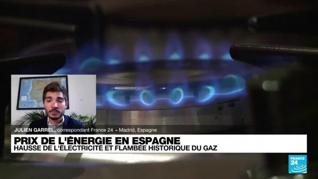 2021-09-30 18:15 Prix de l'énergie en Espagne : hausse de l'électricité et flambée historique du gaz