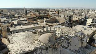 La ville de Binnish, dans la province d'Idleb aux mains des jihadistes, le 24 septembre 2018.