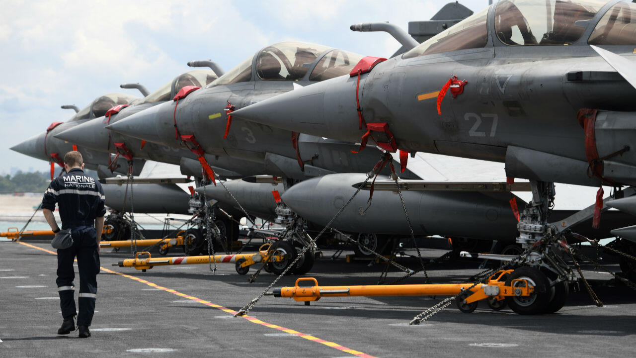 Des Rafale, fleurons de l'armement français, à Singapour, le 25 mai 2019.