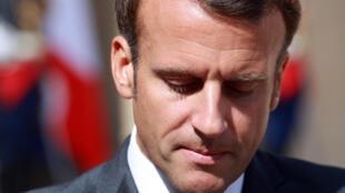Emmanuel Macron à l'Elysée, le 23 juillet 2020 à Paris