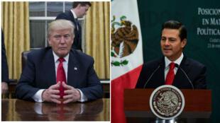 Le président mexicain Enrique Peña Nieto (droite) a annulé une recontre avec Donald Trump.