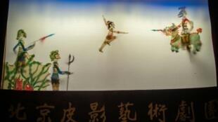 Des marionnettes d'un théâtre chinois à Pékin, le 10 mai 2019