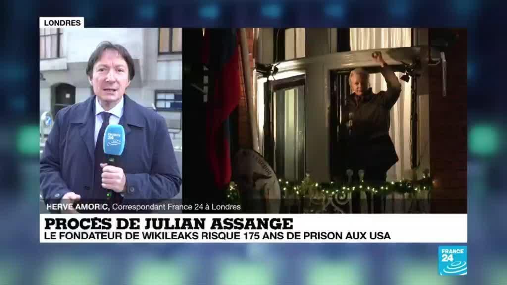 """2020-09-07 08:02 Procès Assange : """" Il y a beaucoup de manifestants, dont des personnalités connues"""""""