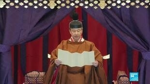 2019-10-22 10:08 Emperor Naruhito of Japan pronounces a speech as he ascends to the throne