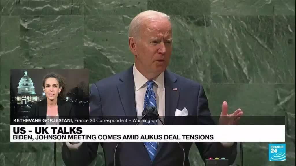 2021-09-22 08:03 US - UK talks: Biden, Johnson meeting comes amis AUKUS deal tensions