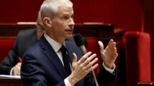 France's Culture Minister Franck Riester addresses parliament on April 30, 2019.