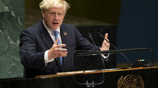 Le Premier ministre britannique Boris Johnson au cours de son discours à la tribune de l'ONU, le 24 septembre 2019 à New York.