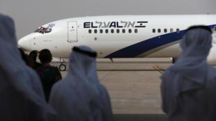 Un avion de la compagnie israélienne El Al se pose à l'aéroport d'Abou Dhabi, le 31 août 2020.