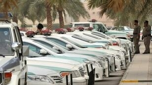 عناصر من الشرطة الخاصة السعودية في مكة.