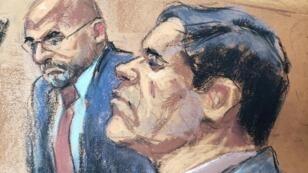 """""""El Chapo"""" Guzman, lors de son procès à New York le 19novembre2018."""