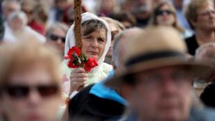 Sobrevivientes asistieron al Servicio Nacional de Recuerdo en North Hagley Park en Christchurch, Nueva Zelanda, para honrar la memoria de las víctimas en la masacre de Christchurch, el 29 de marzo de 2019.