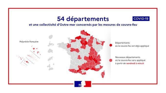 French Pm Castex Extends Covid 19 Curfew To 38 More Departments As Cases Surge